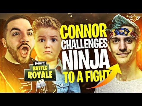 CONNOR CHALLENGES NINJA TO A FIGHT?! (Fortnite: Battle Royale)