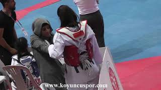 59kg Sude Yaren Uzunçavdar vs B Öztürk 2019 Turkish Cadet Taekwondo Chionships