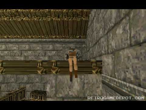 Tomb Raider 1 Work In Progress Beta Demo Pc Dos Gameplay Video Youtube