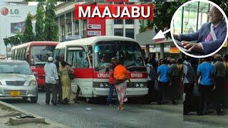 Rais Magufuli ajigeuza dereva kijanja,na kuendesha gari mwenyewe hadharan,wengi washangaa.