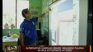 24 Oras:  Alternative learning board, ginagamit sa pagtuturo sa Victorias, Negros Occidental