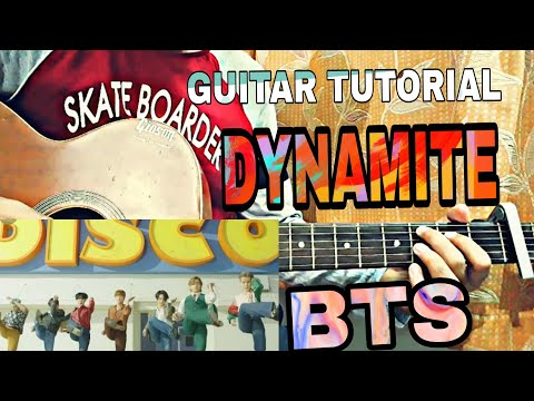 'dynamite'---bts-|guitar-tutorial|-+song-play-along+-guitar-chords+how-to-play-chords