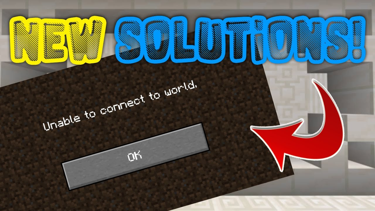 """New Solutions For The """"Unable To Connect To World Glitch"""" In Minecraft  Bedrock!"""