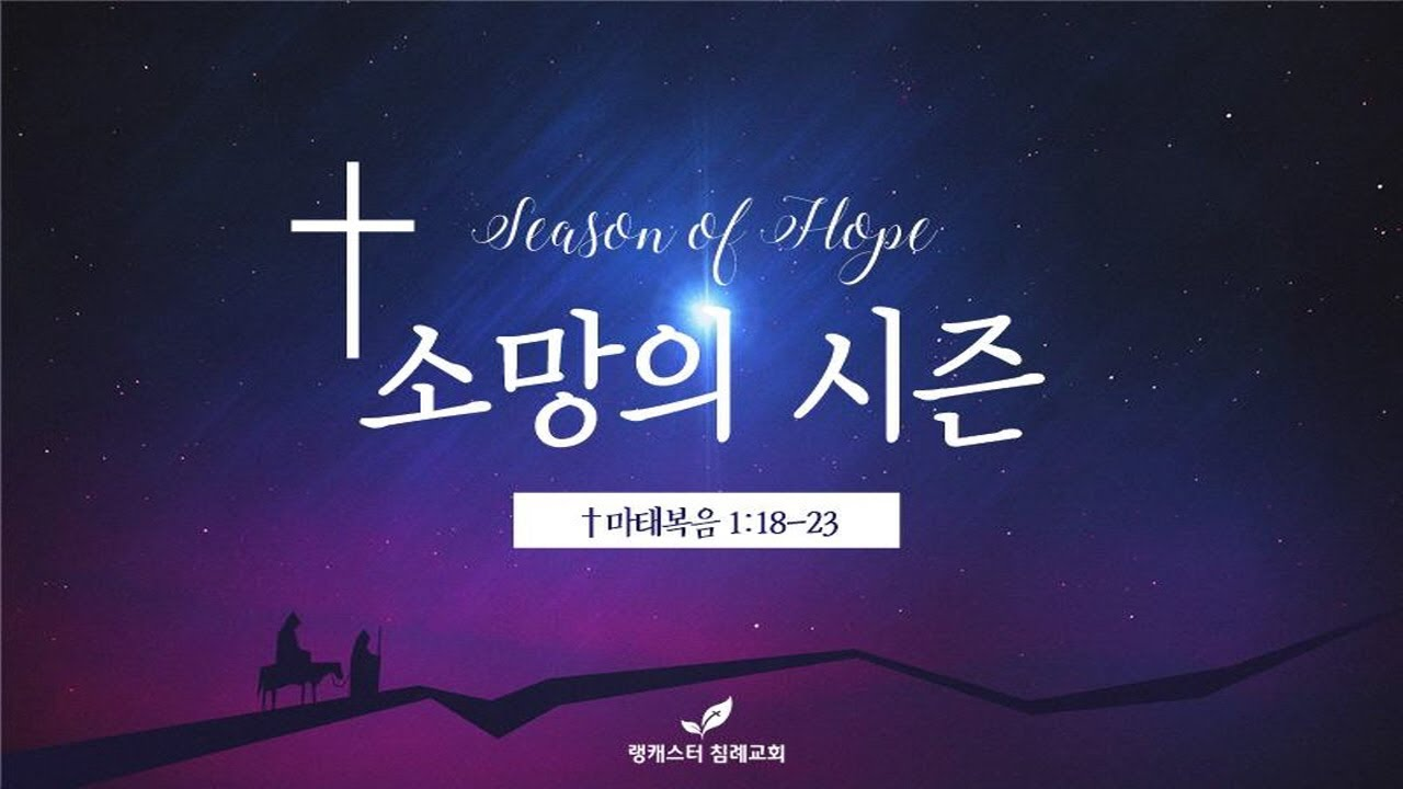 12월 9일  수요 성경 공부 - 소망의 시즌