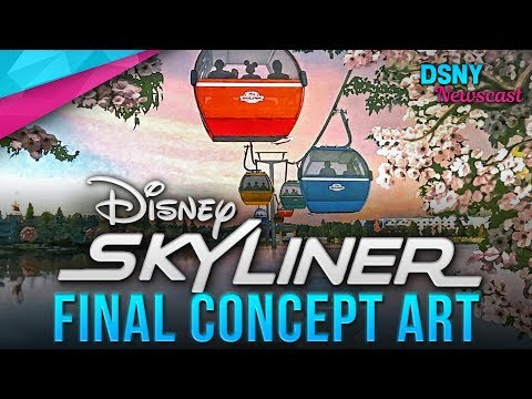 Final CONCEPT ART For Disney Skyliner (Gondola) at Walt Disney World - Disney News - 1/16/18