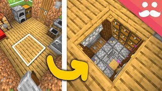 Hidden Base under my House in Minecraft