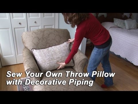 Sew Your Own Throw Pillow with Decorative Piping