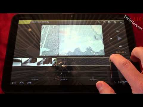 Motorola XOOM: Editing A Video In Movie Studio - Android 3.0 Honeycomb