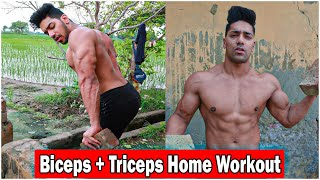 Biceps and Triceps Home Workout (No Gym)