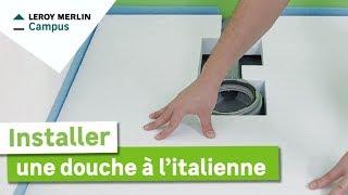 Lm vid os comment poser un receveur de douche pr t carreler leroy merlin - Comment installer une douche italienne en video ...