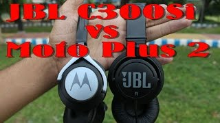 (Best Budget) JBL C300SI Headphone Unboxing With Comparison With Moto Plus 2 In Hindi By Dekh Review