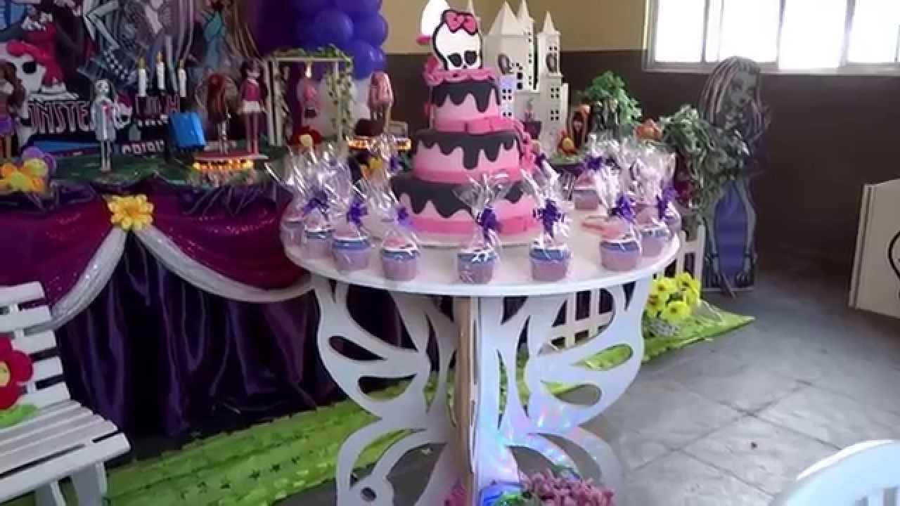 com o tema Monster High para festa de aniversário infantil  YouTube