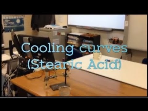 Cooling Curves Stearic Acid Cooling From A Liquid To A