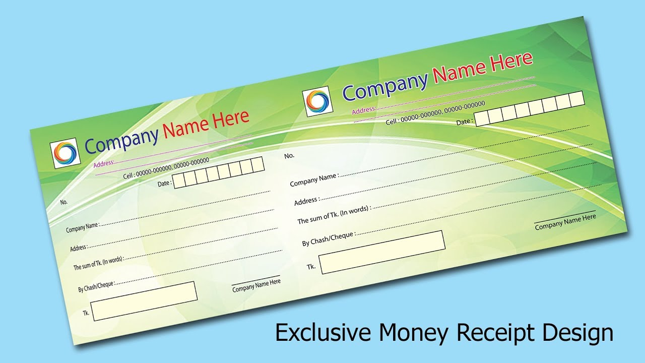 how to make a company money receipt design in illustrator  u0026 photoshop create learn