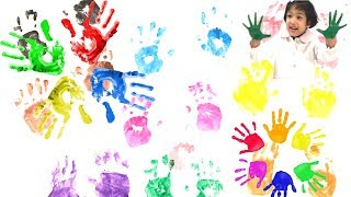 Learning Colors with sefu play time.  how to draw color hands.  kid friendly learn english teaching