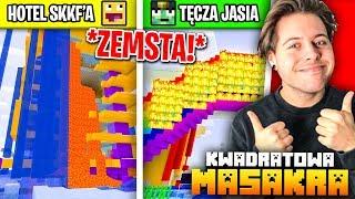 Zemsta na SKKF i JDabrowskym  *dostali za swoje* (Minecraft Kwadratowa Masakra)