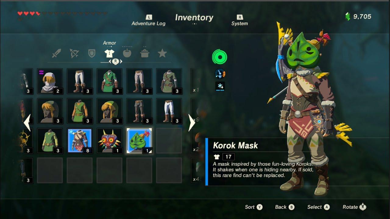how to use korok mask