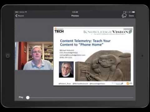 Getting Started with the Knovio for iPad Online Presentation App