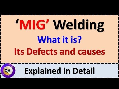 Introduction to 'MIG' Welding ,Its defects and Causes