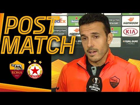 ROMA-CSKA SOFIA POST MATCH   Pedro