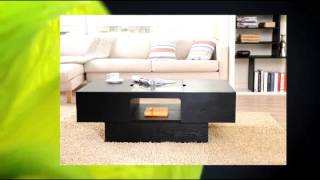 Enitial Lab Lansing Rectangular Coffee Table With Storage Black