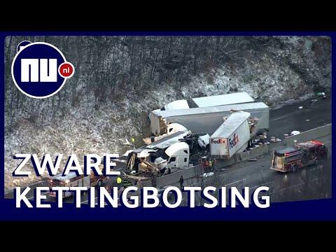 Luchtbeelden Tonen Ravage Na Dodelijke Kettingbotsing In VS | NU.nl