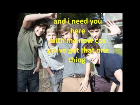One Direction-One Thing (lyrics)