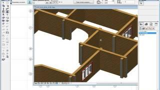 Этап 11. Арочный проем. Этапы проектирования деревянного дома в программе АТ Венцы ARCHICAD