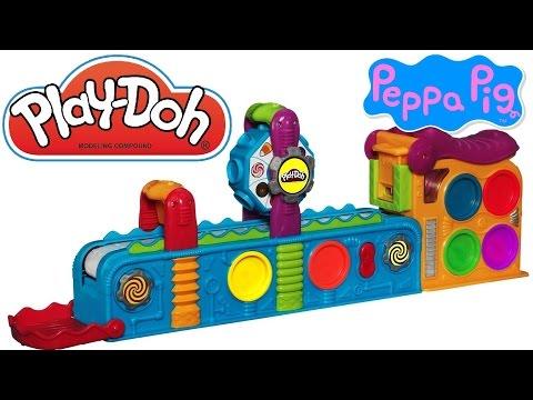 Play Doh Mega Fun Factory Peppa Pig, Play Doh Spin 'n Store Fun Factory Disney Frozen Elsa Anna