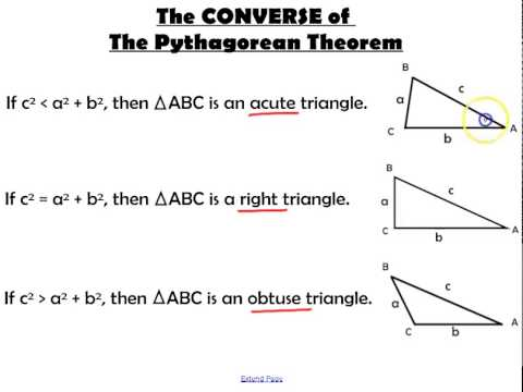 The Pythagorean Theorem and Its Converse - YouTube