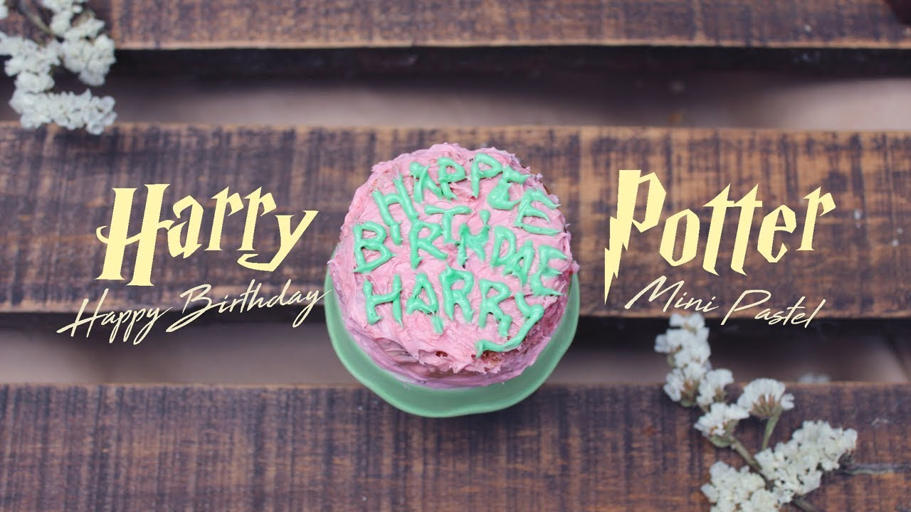 Happy Birthday Harry Potter Cake Mini Pastel Youtube