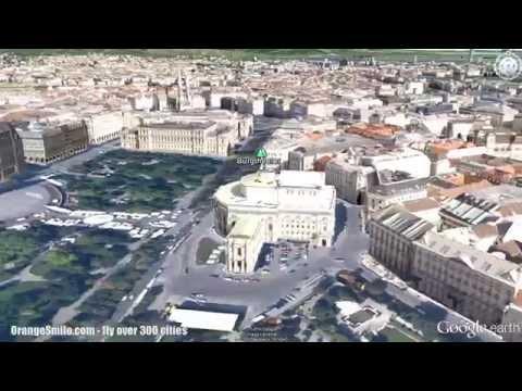 Vienna monuments from bird-eye view