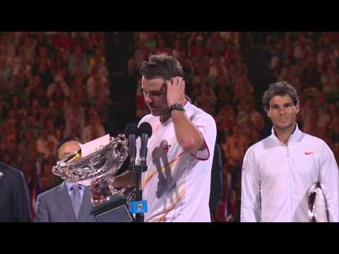 Stan Wawrinka's post-final speech - 2014 Australian Open