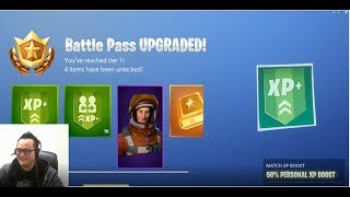 Fortnite Battle Royale New Chinese Season Battle Pass Purchase and Challenge Accepted