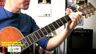 Guitar Lesson ★ Bad Romance - Lady Gaga - How To Play Easy Acoustic Songs