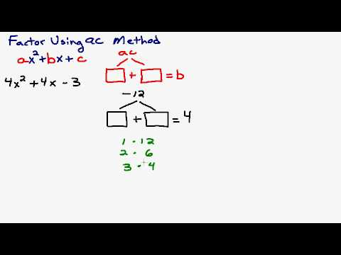 Intro to the AC Method Factoring A Trinomial with Lead Coefficient ...