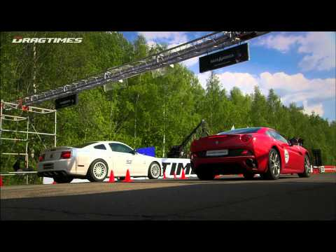 Audi R8 V10 vs Ferrari California vs Ford Mustang