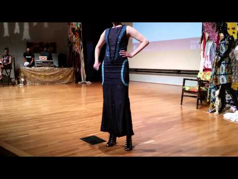 Minnesota History Center's-Ebony Fashion Fair 2015: ShacoCouture Designs- Red 2 piece pants suit