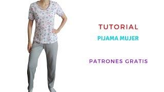 Diy Como Hacer Una Pijama Mujer Corte Y Confeccion Youtube