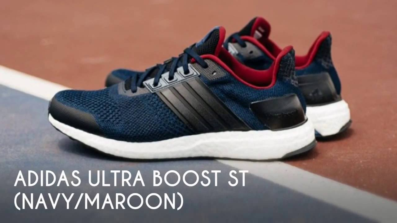 369446dfc ADIDAS ULTRA BOOST ST (NAVY MAROON)   PEACE X9 - YouTube