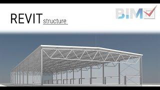 Revit Structure hala stalowa - rzut | BIMv