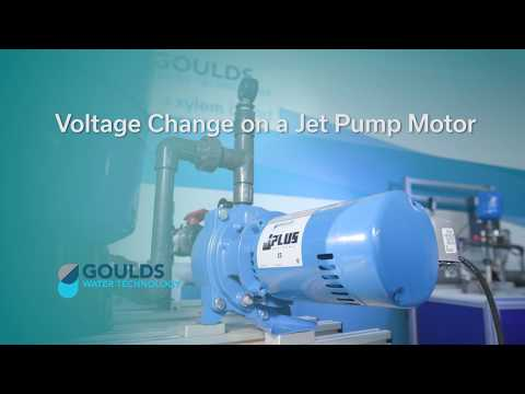 how to change voltage on a jet pump motor youtube gould shallow well pump parts