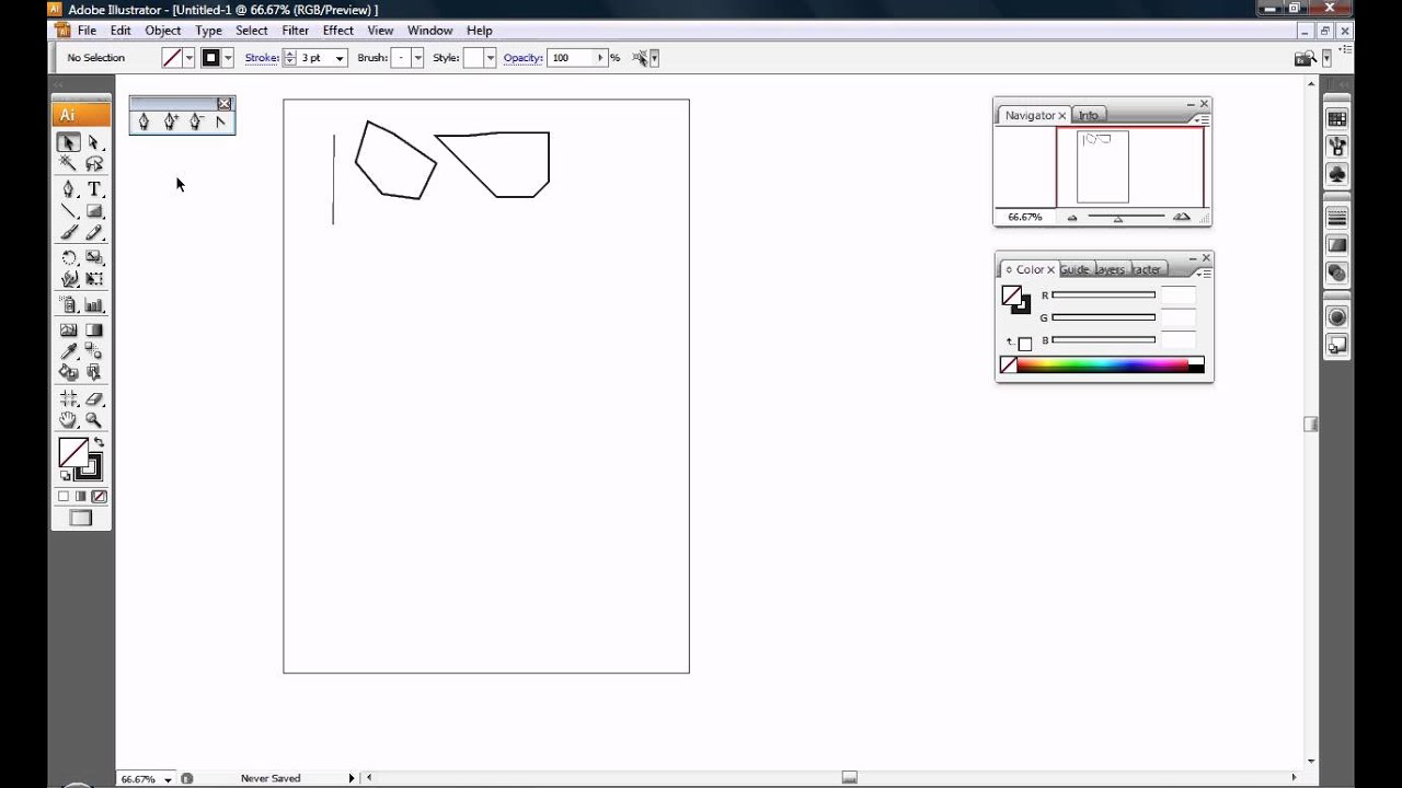 Drawing Lines With The Pen Tool : Illustrator pen tool drawing straight lines shapes and