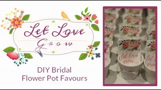 DIY Bridal Shower Flower Pot