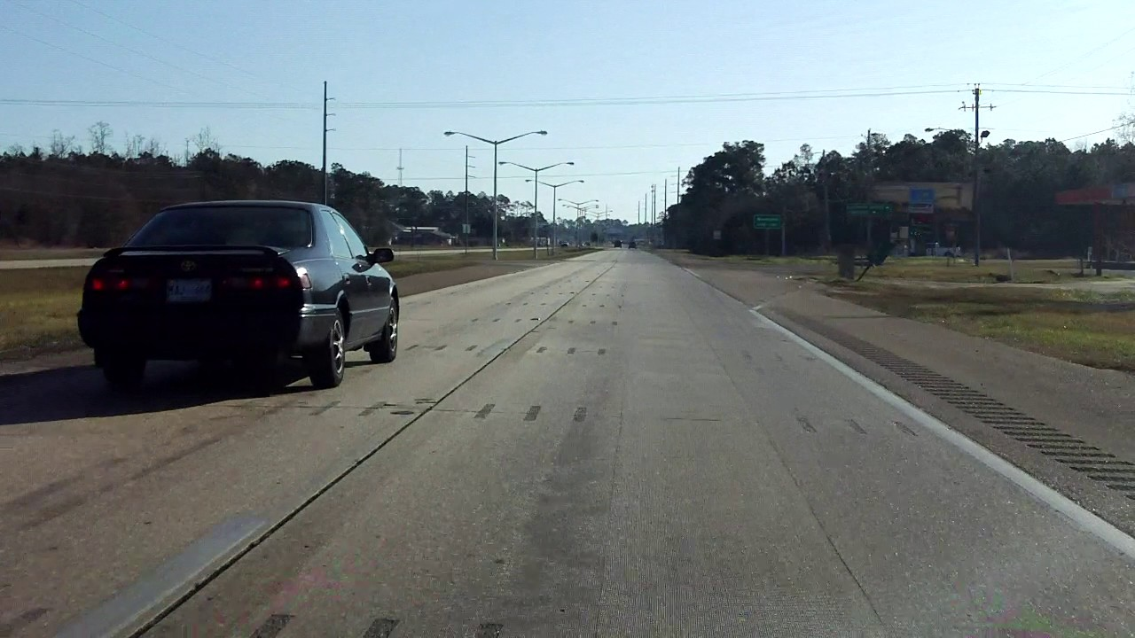 US Mississippi MS To MS Eastbound YouTube - Us 90 road mississippi map
