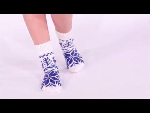 Синие носочки с оленями