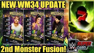 WRESTLEMANIA 34 TIER CARDS UPDATE FREE PACKS MONSTER FUSION TITAN PULLS MORE WWE SuperCard S4
