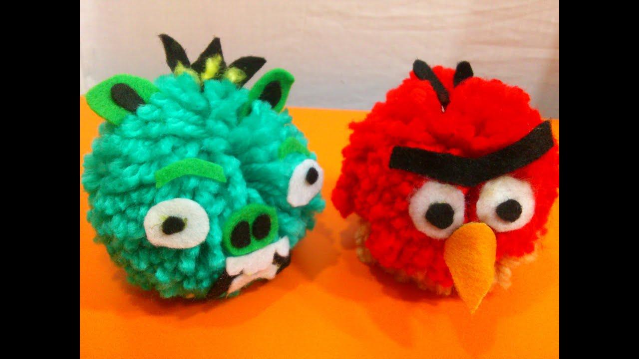 Como hacer mu ecos de lana de angry birds manualidades for Manualidades para ninos con lana
