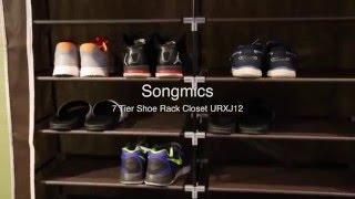 How to Assemble Songmics 7 Tiers Shoe Rack Closet URXJ12Z