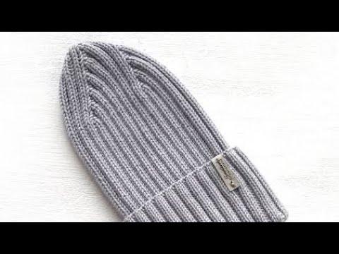 Весенняя шапка резинкой 2/2 макушка по диагонали
